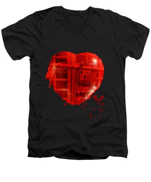 Love Locked Men's V-Neck T-Shirt