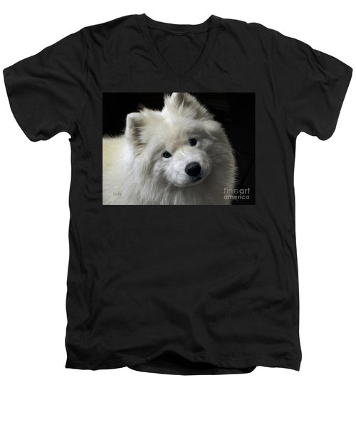 Men's V-Neck T-Shirt featuring the photograph Love by Lois Bryan