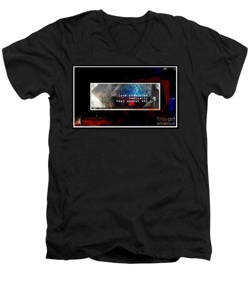 Love Radically I Men's V-Neck T-Shirt