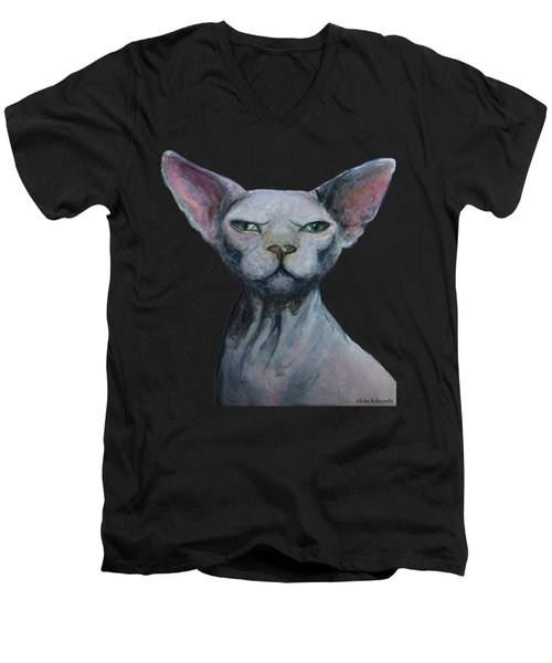 Love Sphynx Cat Men's V-Neck T-Shirt