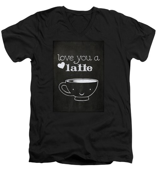 Love You A Latte Men's V-Neck T-Shirt