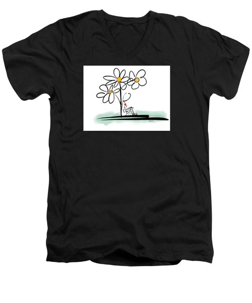 Men's V-Neck T-Shirt featuring the photograph Love You by Haleh Mahbod