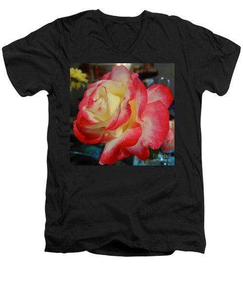 Lovely Rose Men's V-Neck T-Shirt