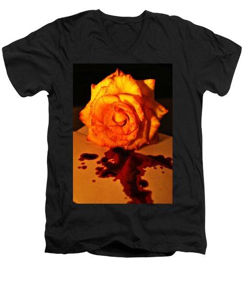 Loves Last Letter Men's V-Neck T-Shirt