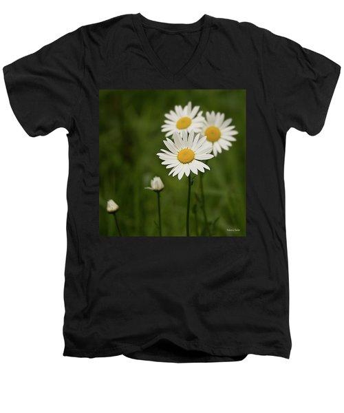 Loves Me, Loves Me Not Men's V-Neck T-Shirt