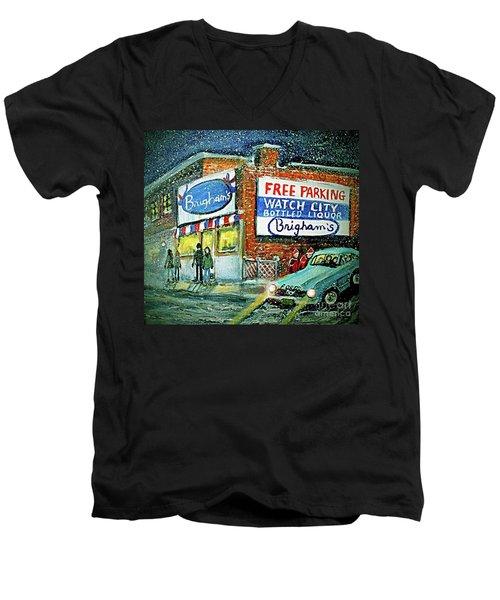 Lower Brigham's Men's V-Neck T-Shirt