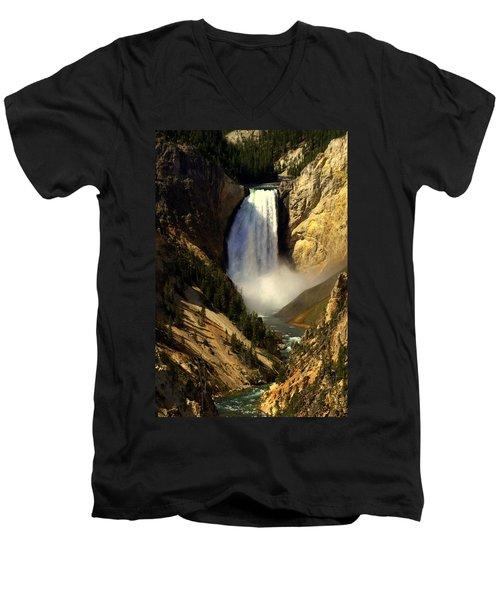 Lower Falls 2 Men's V-Neck T-Shirt