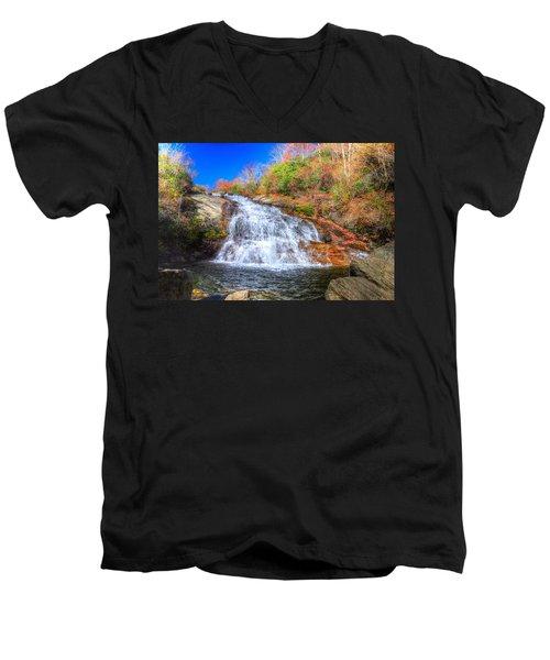 Lower Falls At Graveyard Fields Men's V-Neck T-Shirt