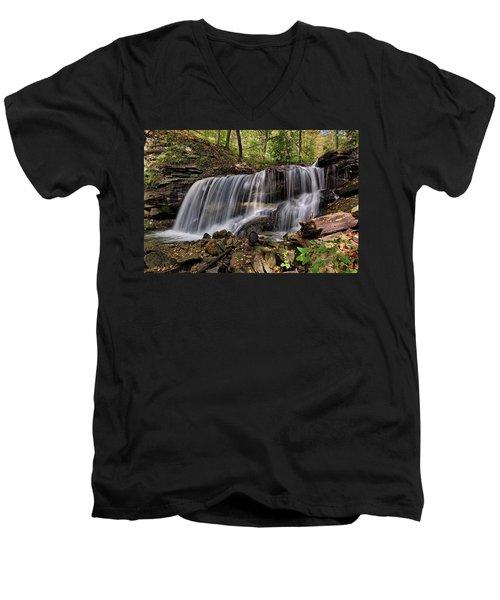 Lower Tews Falls Men's V-Neck T-Shirt