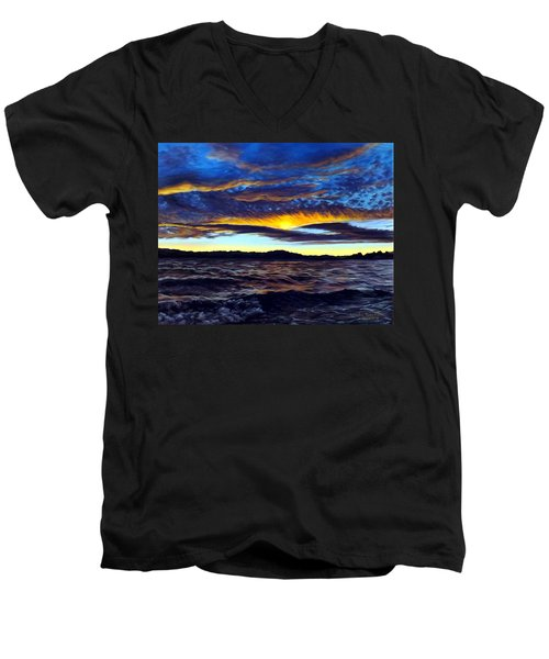 Lucerne Sunset Men's V-Neck T-Shirt