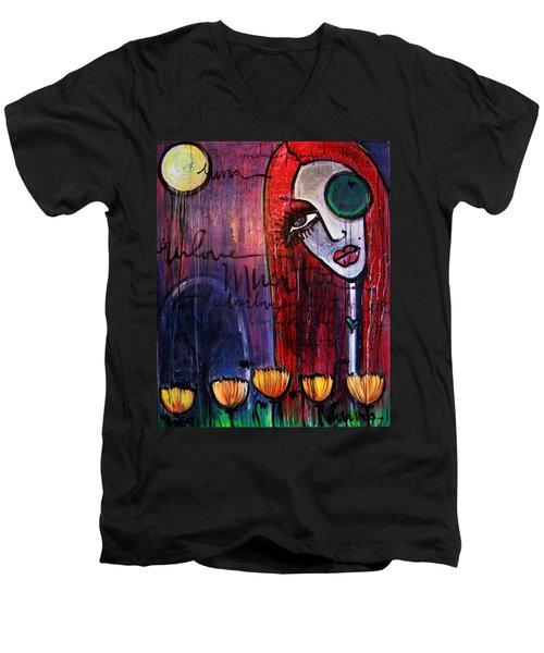 Luna Our Love Muertos Men's V-Neck T-Shirt