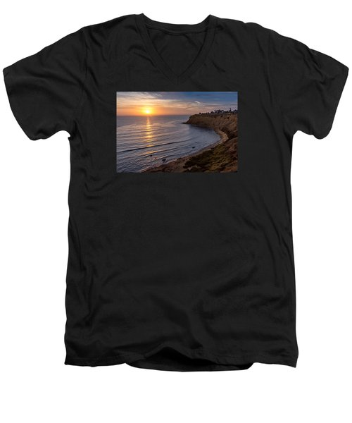 Lunada Bay Sunset Men's V-Neck T-Shirt