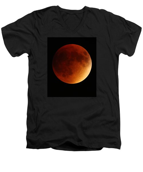 Lunar Eclipse 1 Men's V-Neck T-Shirt