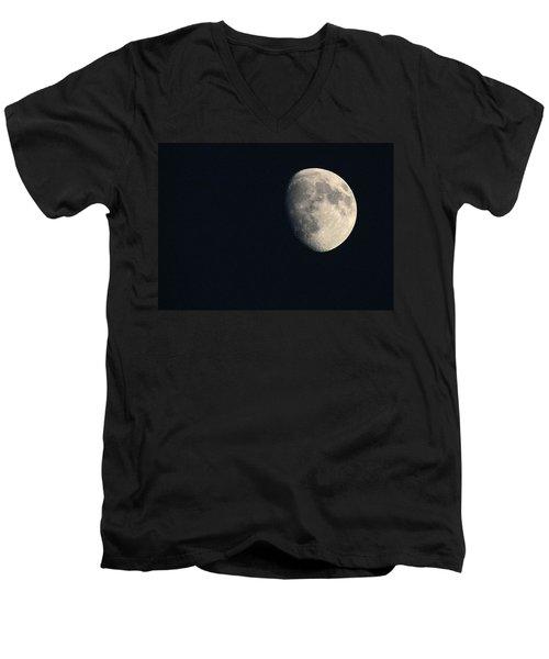 Lunar Surface Men's V-Neck T-Shirt by Angela Rath