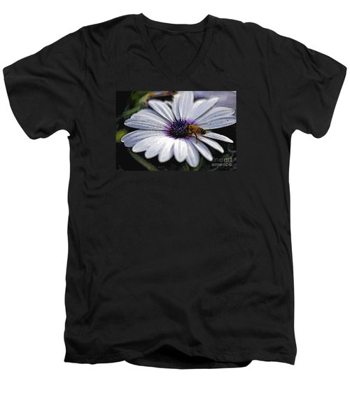 Men's V-Neck T-Shirt featuring the photograph Lunchtime  by Juls Adams
