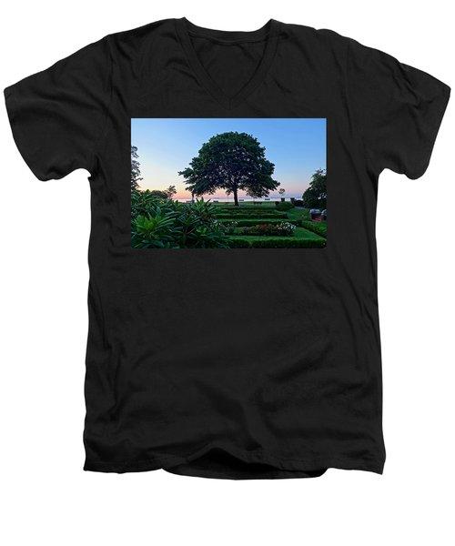 Lynch Park At Dawn Beverly Ma Men's V-Neck T-Shirt