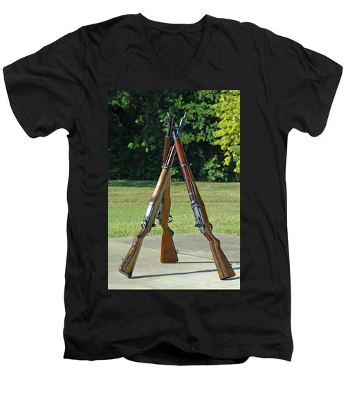 M1 Pyramid Men's V-Neck T-Shirt