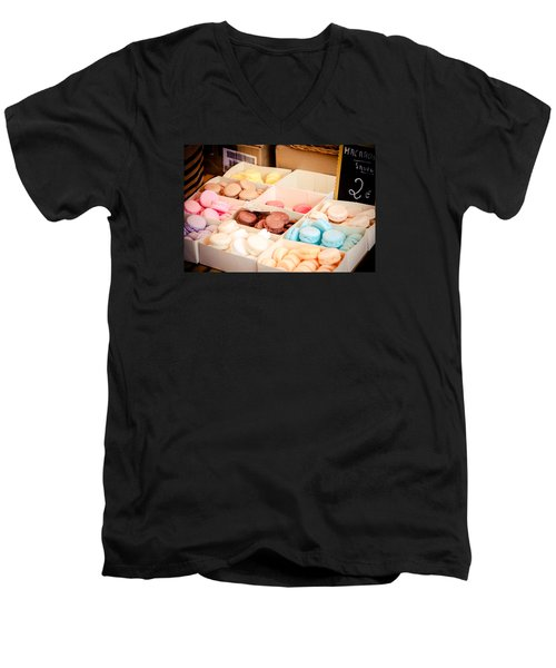 Men's V-Neck T-Shirt featuring the photograph Macaroooons by Jason Smith