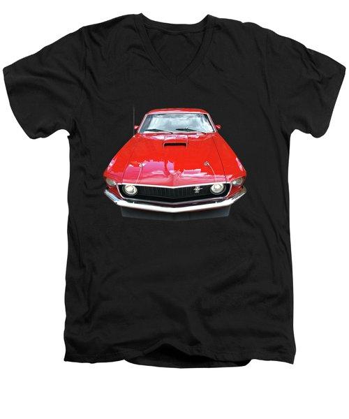Mach1 Mustang 1969 Head On Men's V-Neck T-Shirt