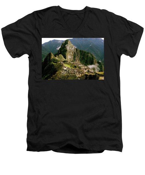 Machu Picchu At Sunrise Men's V-Neck T-Shirt
