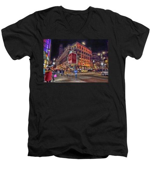 Macy's Of New York Men's V-Neck T-Shirt
