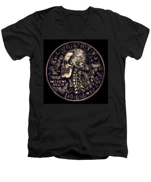 Mad Money Men's V-Neck T-Shirt by Fred Larucci