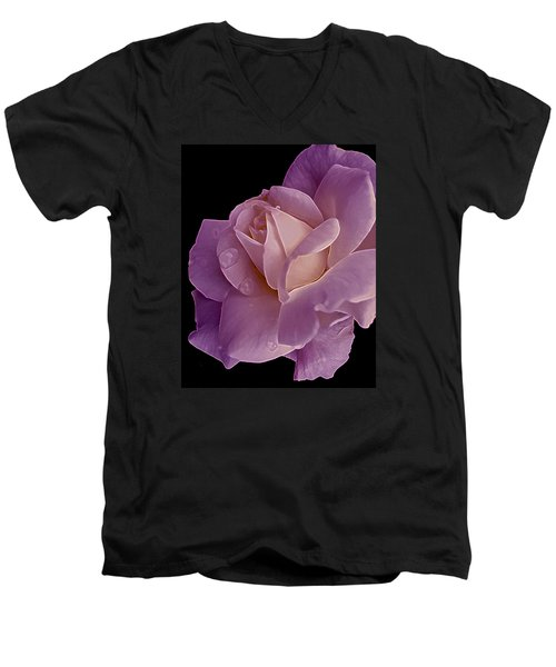 Magenta Queen 8  Men's V-Neck T-Shirt by Lynda Lehmann