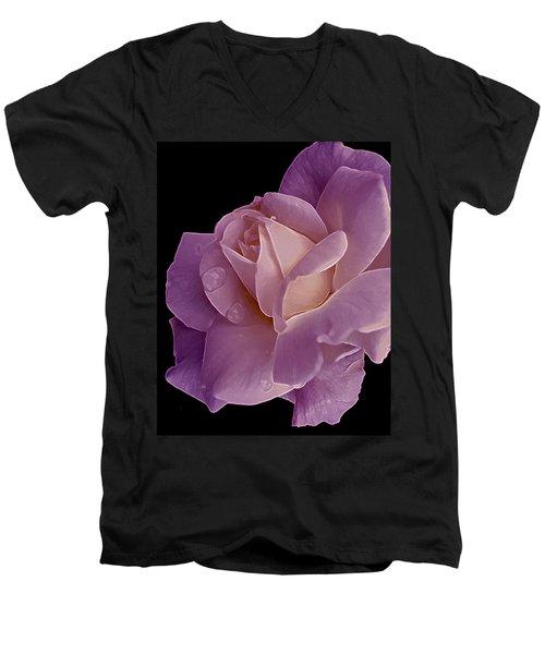 Magenta Queen 8  Men's V-Neck T-Shirt