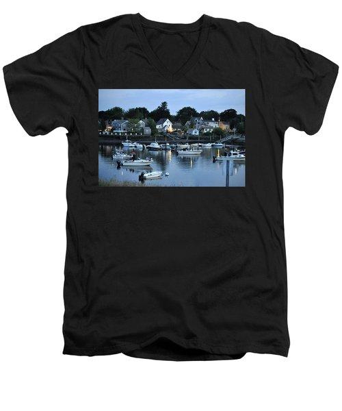 Magic Hour Mhp Men's V-Neck T-Shirt by Jim Brage