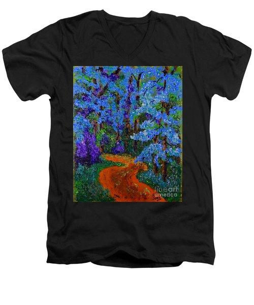 Magical Blue Forest Men's V-Neck T-Shirt