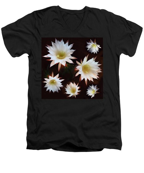 Men's V-Neck T-Shirt featuring the photograph Magical Flower by Gina Dsgn