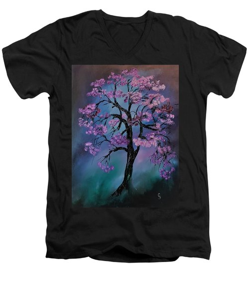 Magical Tree                  66 Men's V-Neck T-Shirt