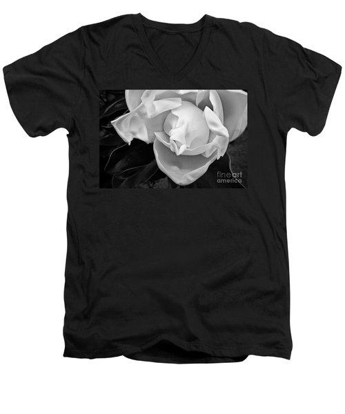 Magnolia Bloom Men's V-Neck T-Shirt