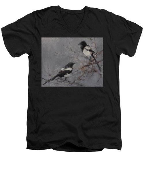 Magpies Men's V-Neck T-Shirt