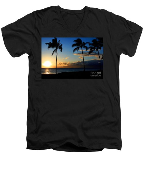 Mai Ka Aina Mai Ke Kai Kaanapali Maui Hawaii Men's V-Neck T-Shirt by Sharon Mau