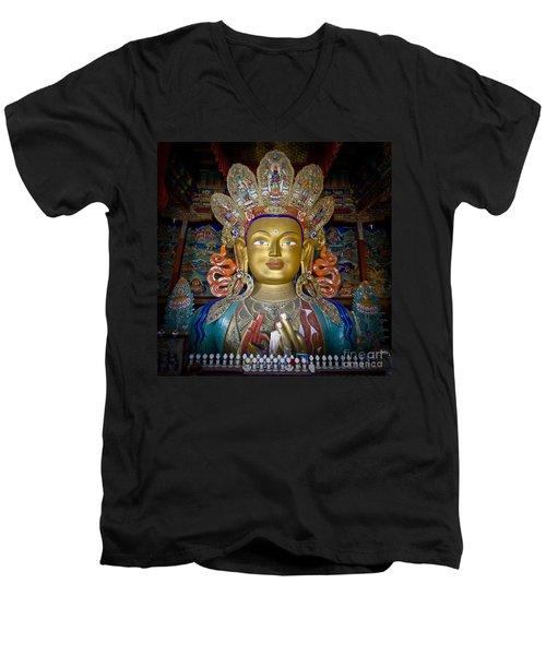Maitreya Buddha Men's V-Neck T-Shirt