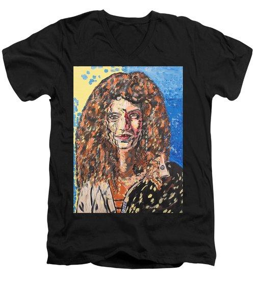 Maja Men's V-Neck T-Shirt by Valerie Ornstein