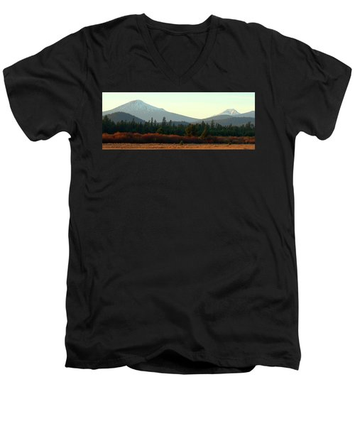 Majestic Mountains Men's V-Neck T-Shirt by Terry Holliday Giltner