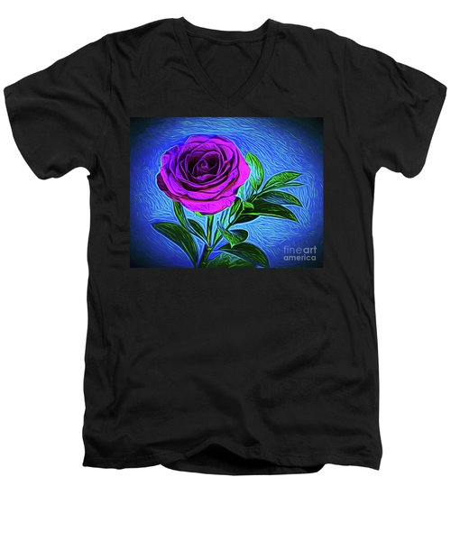 Majesty Love 1718-2 Men's V-Neck T-Shirt