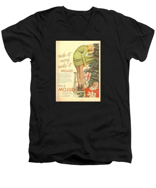 Make It Merry...make It Mojud Men's V-Neck T-Shirt