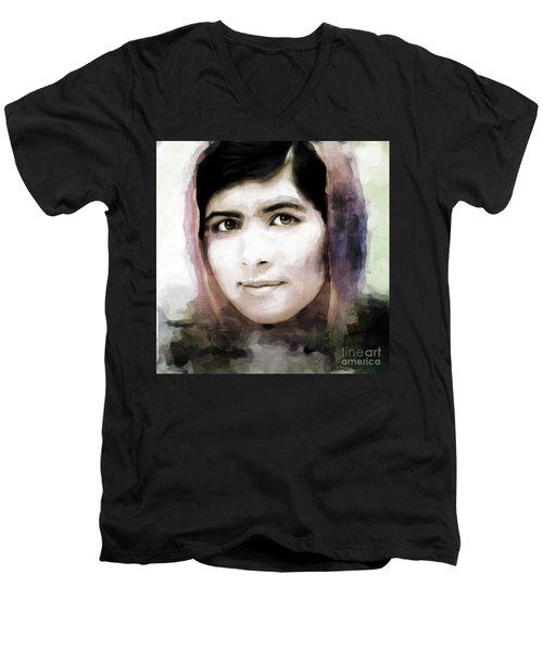 Malala Yousaf Zai 10 Men's V-Neck T-Shirt by Gull G
