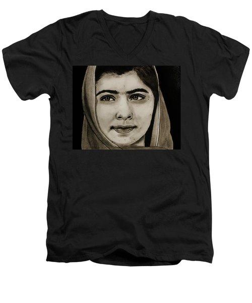 Malala Yousafzai- Teen Hero Men's V-Neck T-Shirt