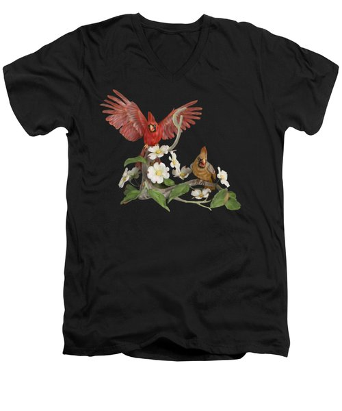 Male And Female Cardinals  Men's V-Neck T-Shirt