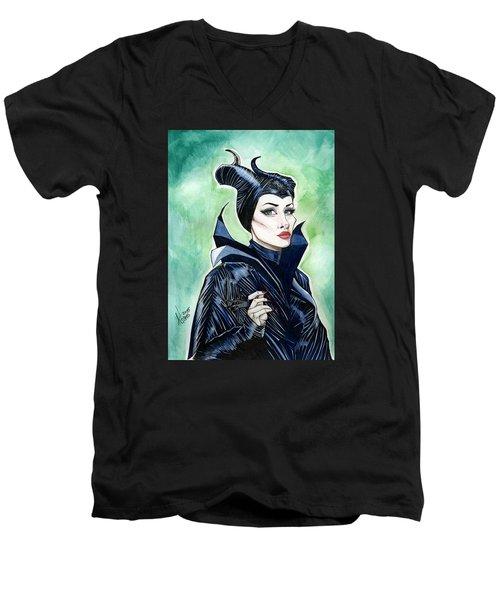 Maleficent Men's V-Neck T-Shirt by Jimmy Adams