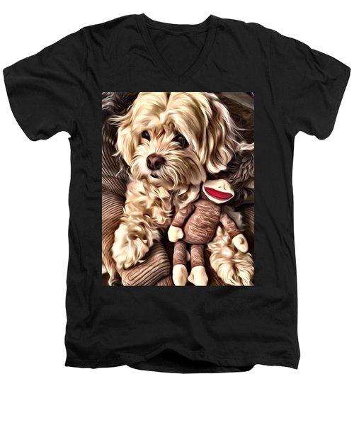 Maltipoo Love Men's V-Neck T-Shirt