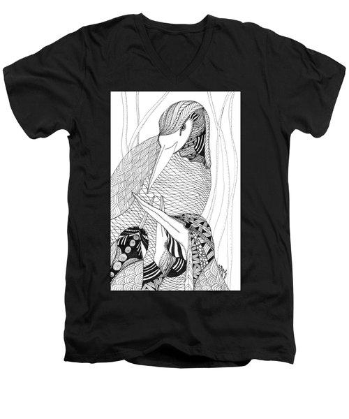 Mama Heron Men's V-Neck T-Shirt