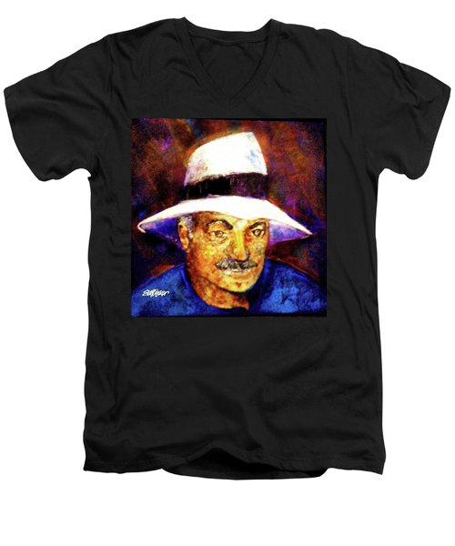 Man In The Panama Hat Men's V-Neck T-Shirt