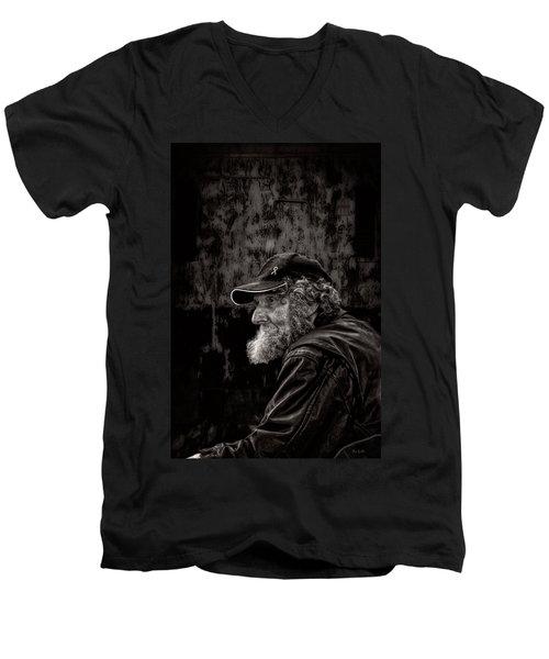 Man With A Beard Men's V-Neck T-Shirt