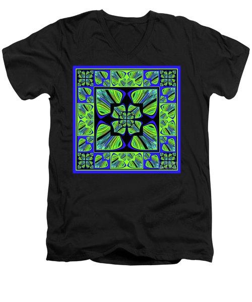 Mandala #22 Men's V-Neck T-Shirt by Loko Suederdiek
