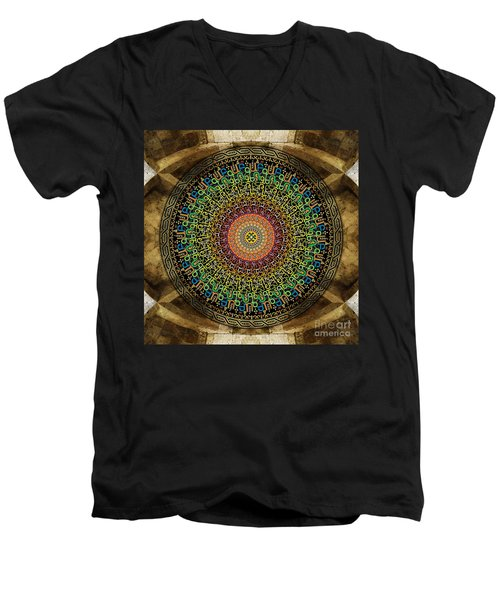 Mandala Armenian Alphabet Men's V-Neck T-Shirt